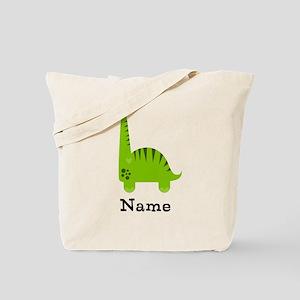 Green Dinosaur (p) Tote Bag