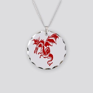 necklace bronze red eyed winged tone or silver golden pt pendant dragon two jewelry varden