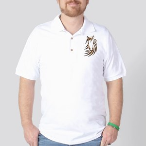 Brown Horse Head Golf Shirt