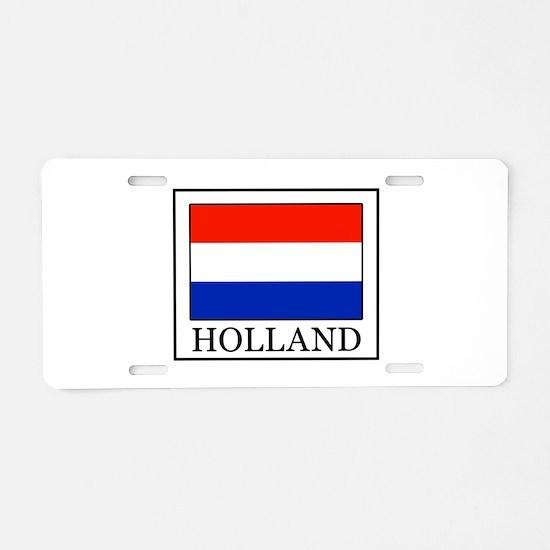 Holland Aluminum License Plate
