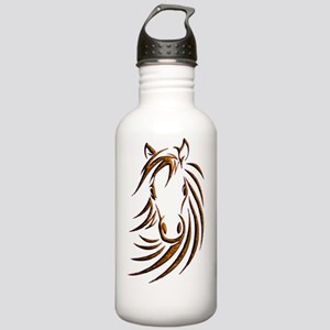 Brown Horse Head Stainless Water Bottle 1.0L