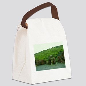 Stack of Commercial Crab Pots Canvas Lunch Bag