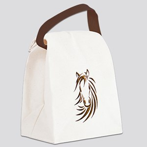 Brown Horse Head Canvas Lunch Bag