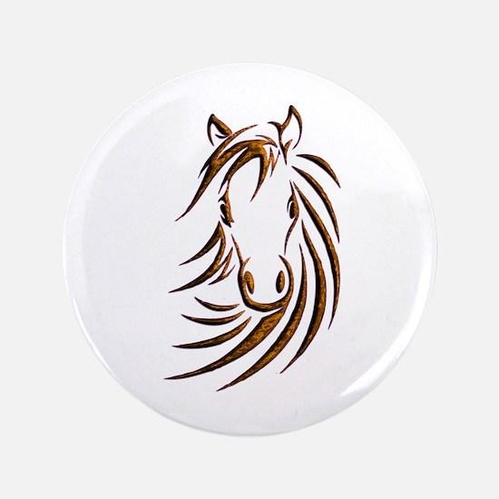 Brown Horse Head Button