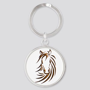 Brown Horse Head Keychains