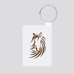 Brown Horse Head Keychains