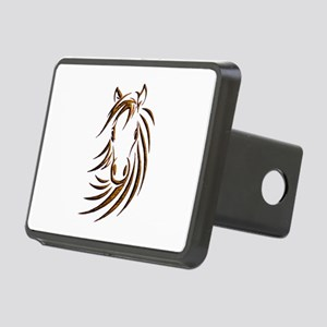 Brown Horse Head Rectangular Hitch Cover