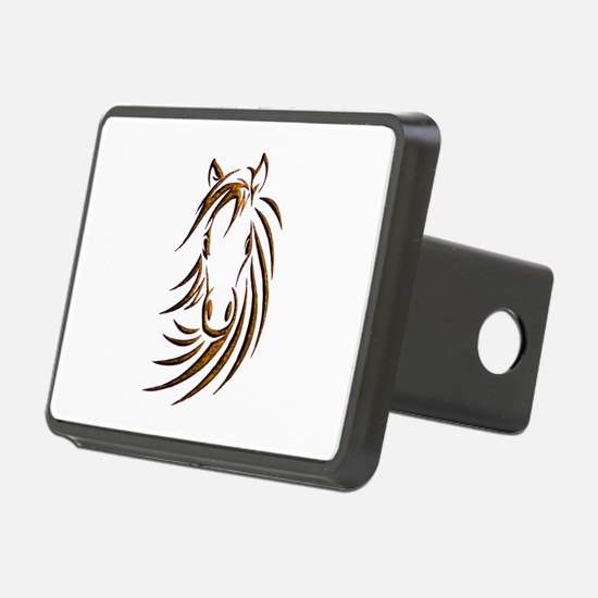 Brown Horse Head Hitch Cover