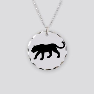Black Panther Necklace Circle Charm