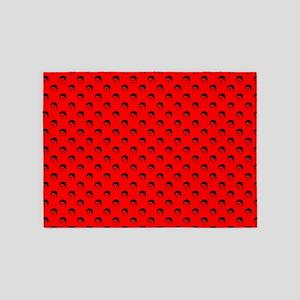 red frida kahlo 5'x7'Area Rug