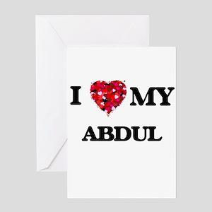 I love my Abdul Greeting Cards