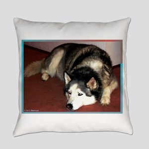 Husky! Dog photo! Everyday Pillow