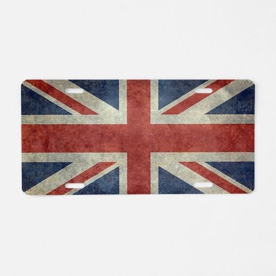 Cute British flag Aluminum License Plate
