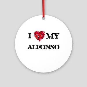 I love my Alfonso Ornament (Round)