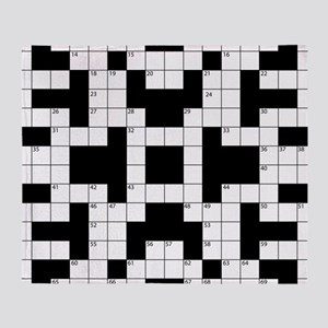 Cool Crossword Pattern Throw Blanket