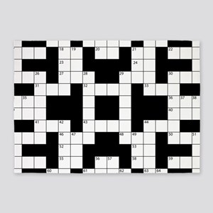 Cool Crossword Pattern 5'x7'Area Rug