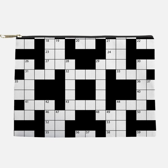Cool Crossword Pattern Makeup Bag