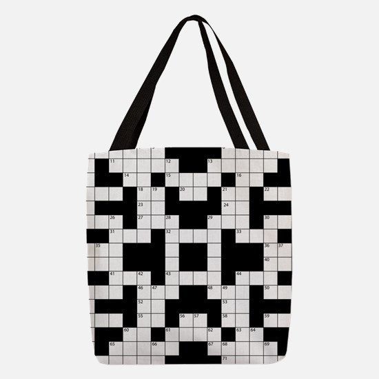 Cool Crossword Pattern Polyester Tote Bag