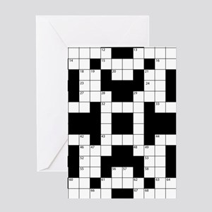 Cool Crossword Pattern Greeting Cards