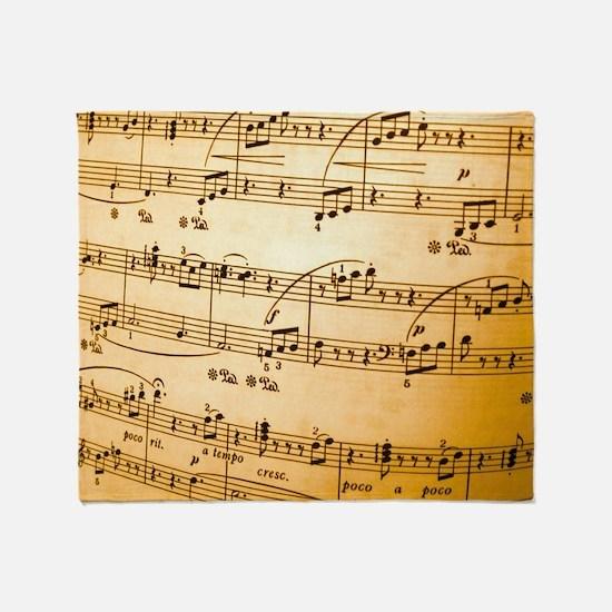 Music Sheet Throw Blanket