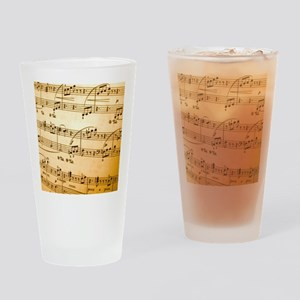 Music Sheet Drinking Glass