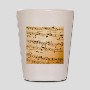 Music Sheet Shot Glass