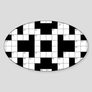 Cool Crossword Pattern Sticker