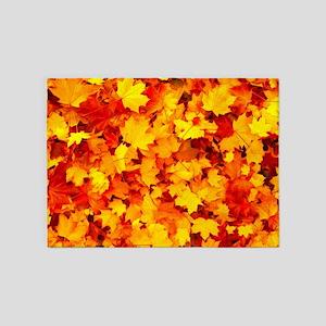 Maple Leaves 5'x7'Area Rug