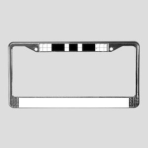 Cool Crossword Pattern License Plate Frame