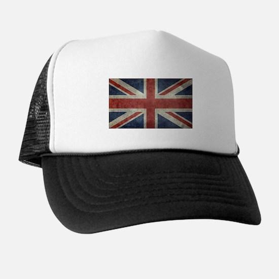 Union Jack flag - vintage retro style Trucker Hat