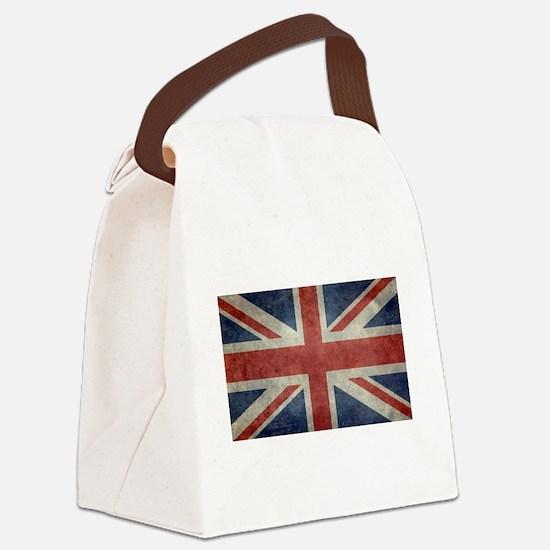 Union Jack flag - vintage retro s Canvas Lunch Bag