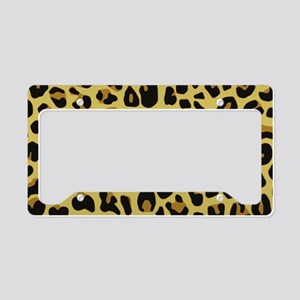 Jaguar Texture License Plate Holder