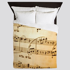 Music Sheet Queen Duvet