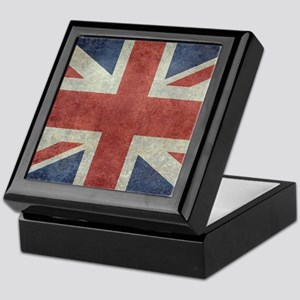 Union Jack flag - vintage retro style Keepsake Box
