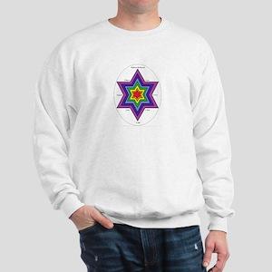 Chakra Balancing Star of David Sweatshirt