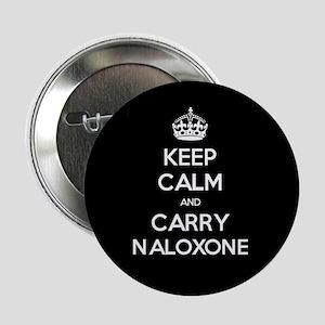 "Keep Calm And Carry Naloxone 2.25"" Button"