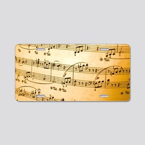 Music Sheet Aluminum License Plate