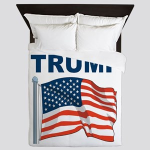 Donald Trump is my Hero Queen Duvet
