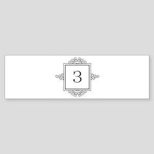 Russian Zeh letter Z Monogram Bumper Sticker
