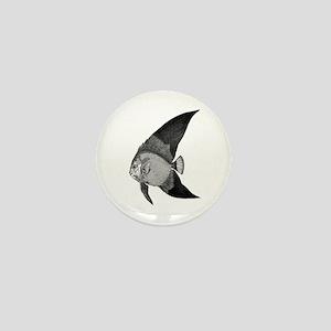 Vintage Angel Fish illustration Mini Button