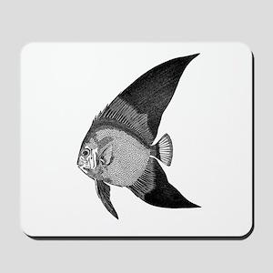 Vintage Angel Fish illustration Mousepad