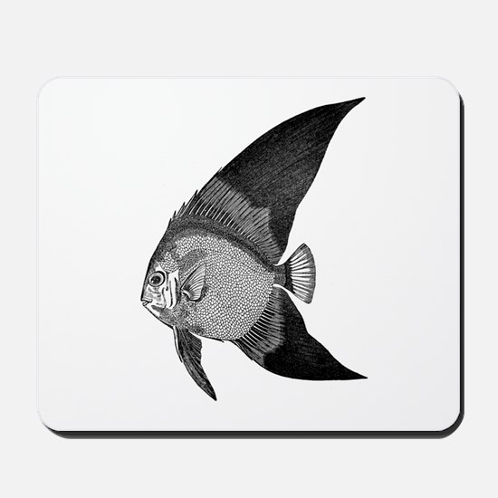 Vintage Angel Fish illustration Mousepad
