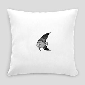 Vintage Angel Fish illustration Everyday Pillow