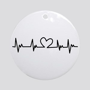 Heart Beat Ornament (Round)
