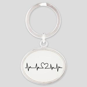 Heart Beat Keychains