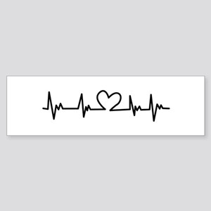 Heart Beat Bumper Sticker