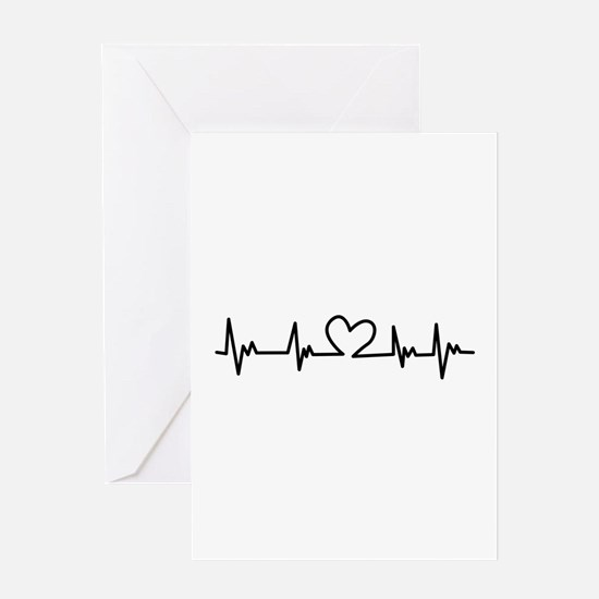 Heart Beat Greeting Cards