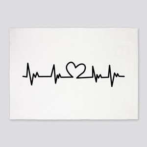 Heart Beat 5'x7'Area Rug