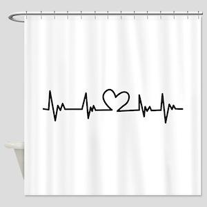 Heart Beat Shower Curtain