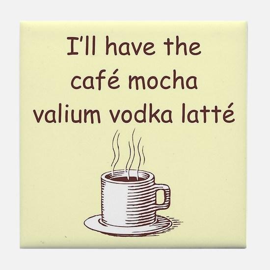CAFE MOCHA Tile Coaster